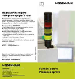 Funkční oprava Prémiová oprava HEIDENHAIN