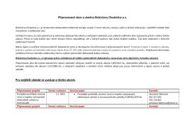 Připravované akce a záměry Elektrárny Chvaletice a.s. Pro nejbližší