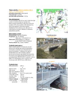 Název stavby: Oprava mostu evid. č. 4227 – 2 v obci Labuty