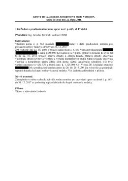 1.06 Žádost o prodloužení termínu oprav na č. p. 663, ul