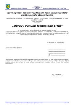 """""""Opravy výtluků technologií ITHR"""" - Praha"""