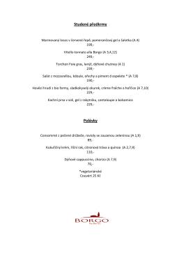 Jídelní lístek - pdf - Restaurace BORGO Agnese