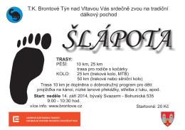 T.K. Brontové Týn nad Vltavou Vás srdečně zvou na tradiční dálkový