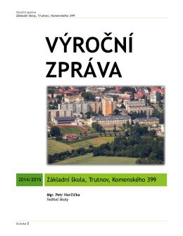 Výroční zpráva 2014 - Základní škola Komenského 499, Trutnov