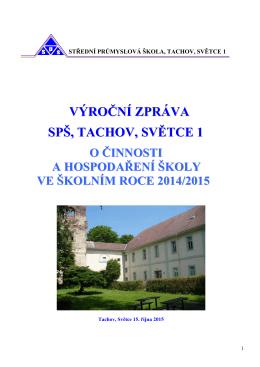 Výroční zpráva 2014 - 2015 - Střední průmyslová škola Tachov