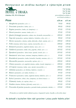 Pizza - Bechyně