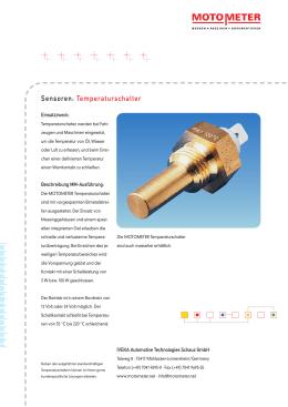 Sensoren: Temperaturschalter