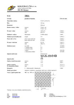 Základní údaje - KOLOVRAT, ČM sro