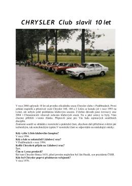 01 – Auto prodej - Chrysler club CZ