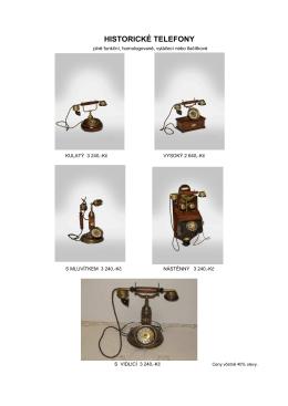 historické telefony 2015