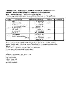 Kopie - vyběrové řízení Rožnov