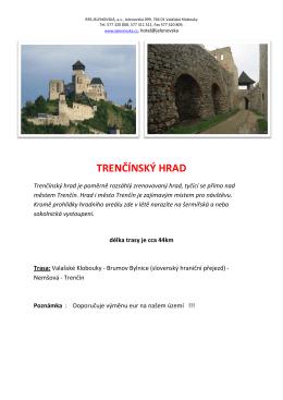Trenčínský hrad - Horský hotel Jelenovská