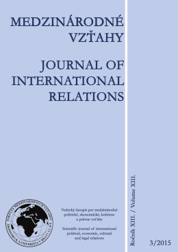 celé číslo / full issue - Fakulta medzinárodných vzťahov