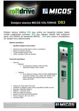 Dobíjecí stanice MICOS VOLTDRIVE DS3