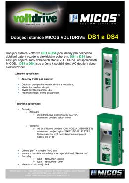 Dobíjecí stanice MICOS VOLTDRIVE DS1 a DS4
