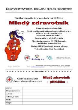 info ke kroužku-leták - Český červený kříž Oblastní spolek