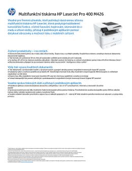 Multifunkční tiskárna HP LaserJet Pro 400 M426