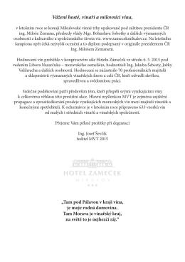 Katalog MVT 2015 - Hotel Zámeček Mikulov