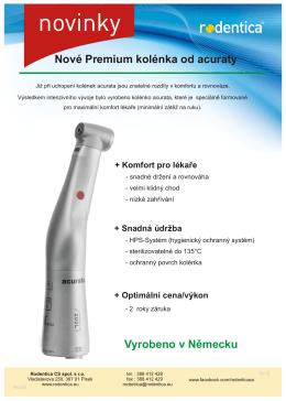 Nová Premium kolénka od acuraty Již při