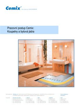 Pracovní postup Cemix: Koupelny a bytová jádra