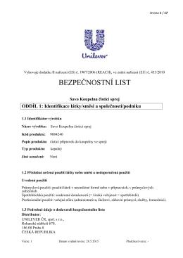 Savo Koupelna čisticí sprej CLP PDF