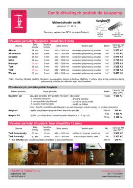 Ceník dřevěných podlah do koupelny