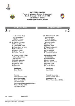 FC Viktoria Plzeň SK Rapid Wien