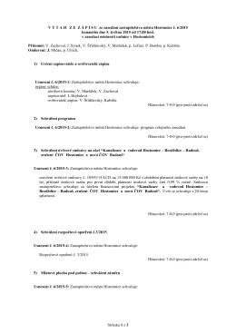 Usnesení ze zasedání zastupitelstva města Hostomice č. 6/2015