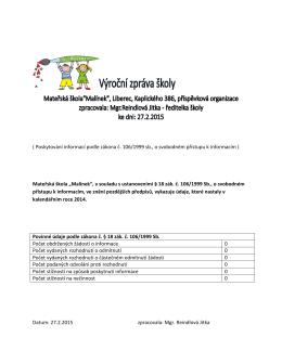 ( Poskytování informací podle zákona č. 106/1999 sb., o svobodném