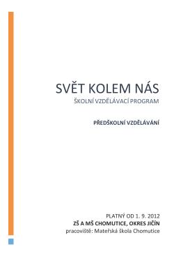 švp-MŠ 2015 - ZŠ MŠ Chomutice