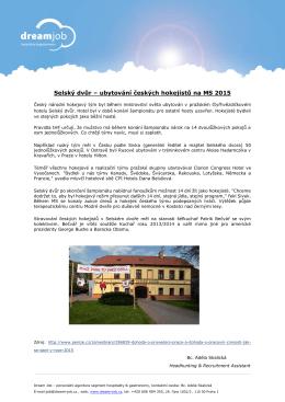 Selský dvůr – ubytování českých hokejistů na MS 2015