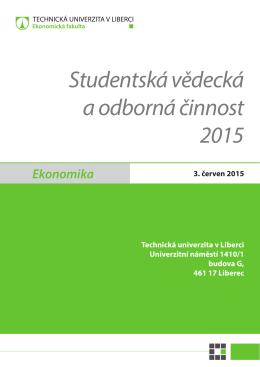 Studentská vědecká a odborná činnost 2015