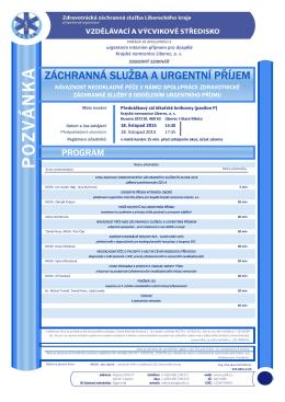 pozvánce - Zdravotnická záchranná služba Libereckého kraje