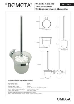 104113012 OMEGA WC štětka miska sklo