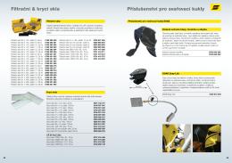 Filtrační & krycí skla Příslušenství pro svařovací kukly