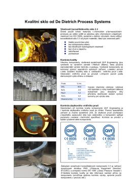 Kvalita borosilikátového skla BORO 3.3 (CZ)