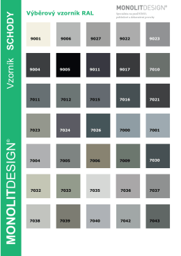 Vzorník barev - Monolitdesign