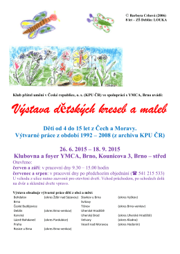 Výstava kreseb dětí 06 2015