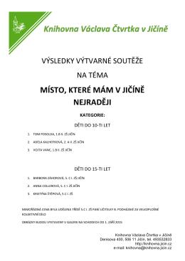 ZDE - Knihovna Václava Čtvrtka Jičín