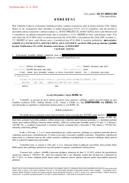 U S N E S E N Í - Exekutorský úřad Litoměřice