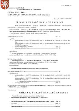 příkaz k úhradě nákladů exekuce příkaz k úhradě nákladů exekuce