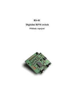 RS-01 Digitální RPM switch