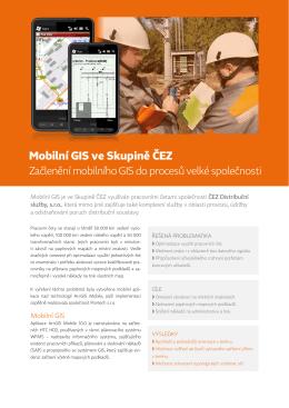 Mobilní GIS ve Skupině ČEZ