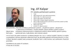 Ing. Jiří Kašpar