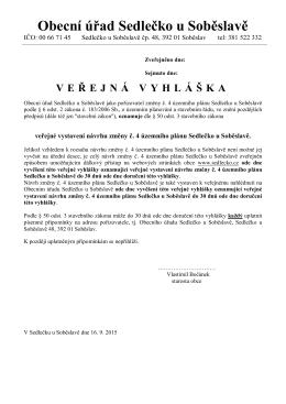 Okresní úřad Jindřichův Hradec referát regionálního rozvoje
