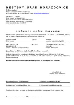 Menčík Tomáš, Ex.příkaz MH/02813/2015