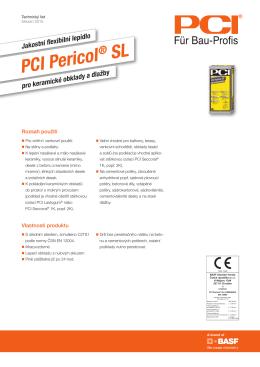 PCI Pericol SL - technický list
