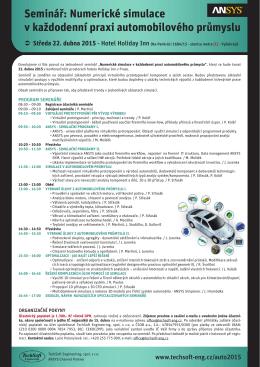 Numerické simulace v každodenní praxi automobilového průmyslu