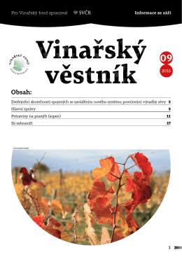 Obsah: - Svaz vinařů ČR