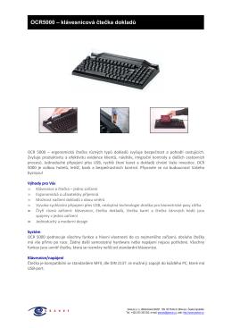 OCR5000 – klávesnicová čtečka dokladů